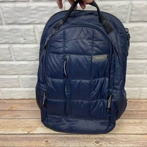 TARGUS Navy Blue Quilted backpack with pockets